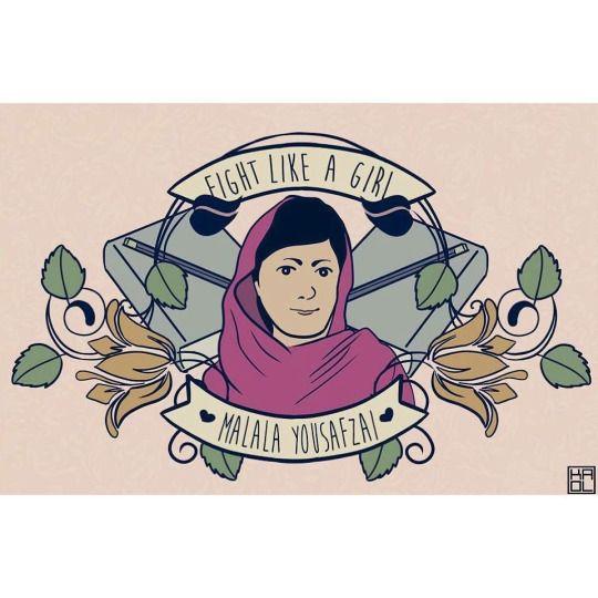 """Malala Yousafzai Feminismo """"Fight Like A Girl"""" """"Lute Como Uma Garota""""  #Respeito #Empatia #Mulher #Mulheres #Unidas #Feminismo #Feministas #Feminina #Luta #Força #União #Emponderamento #Amor #Igualdade #Respect #Empathy #Woman #Women #United #Together #Feminist #Feminism #Empowerment   #Union #Power #Love #Equality  A game developer Carolina Porfírio(ou Kaol Porfírio) chttps://m.facebook.com/kaolcaradeboi criou uma série de """"...personagens femininas que sabem lutar pelos seus ideais.."""""""