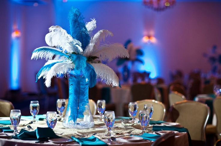 Ostrich feather centerpieces sweet paris pinterest