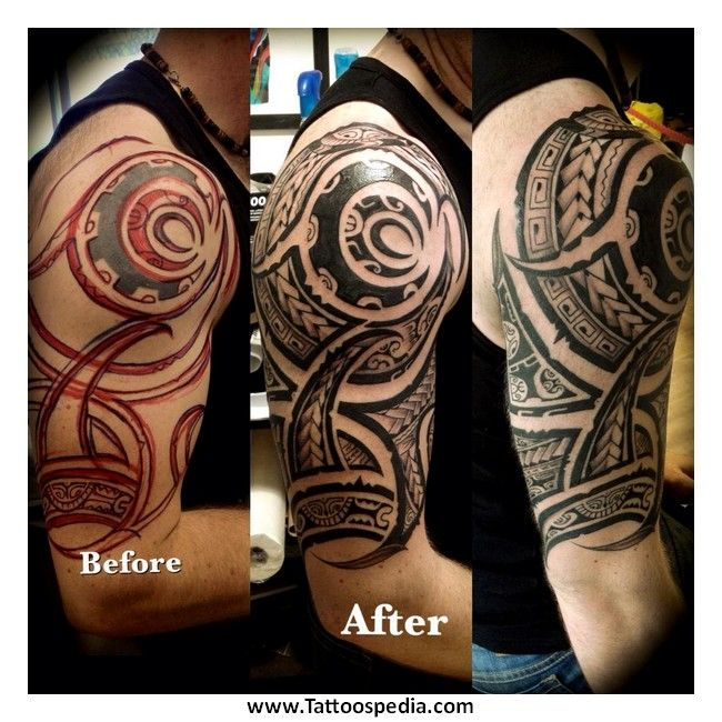 Tribal tattoo cover up sleeve images for Tattoo cover sleeves