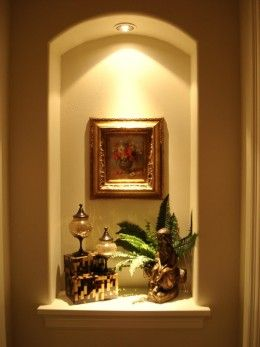 Lighted Wall Niches | Home Remodeling Improvement Idea - Alcoves