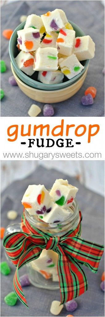 gumdrop fudge recipe - soft vanilla fudge filled with colorful chewy, fruity gumdrops