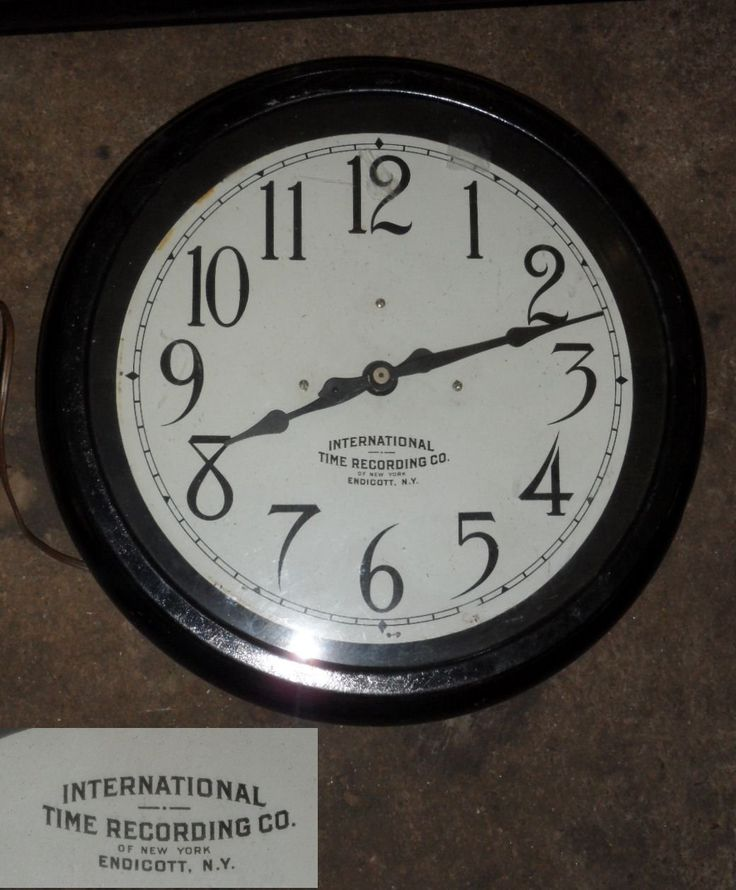 """Wall Clock """"International Time Recording Co"""" - Old Town Architectural Salvage"""
