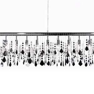 Broadway Black Tie Linear Suspension By James R Moder 3 Chandelier Width 47 In
