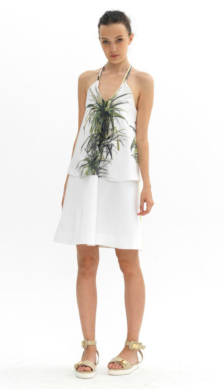 cord detail silk top cord detail vest dress