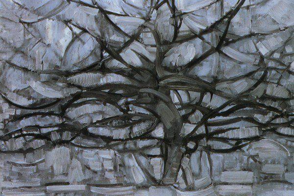 A árvore cinzenta A Árvore Cinzenta, de Piet Mondrian, 1911. Óleo sobre tela, 78.5 x 107.5 cm. Gemeentemuseum, Haia.