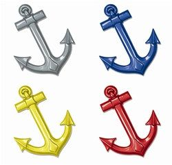 Assorted Plastic Ships Anchors (1/pkg) - PartyCheap