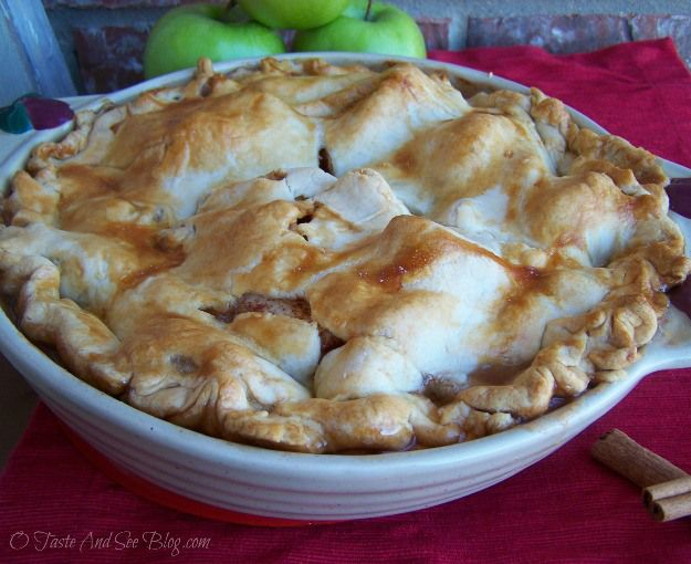 O Taste and See Old Fashion Apple Pie - O Taste and See