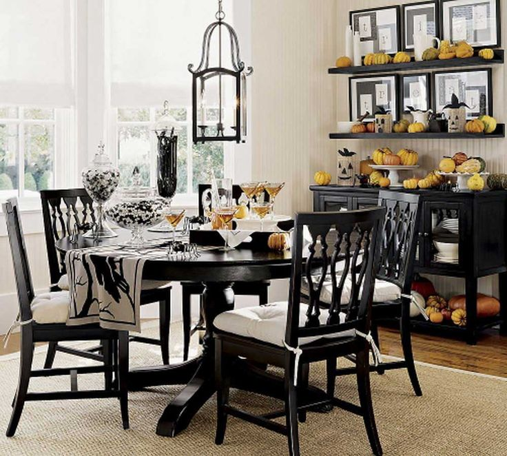 Luxury dining room furniture sets with casual black