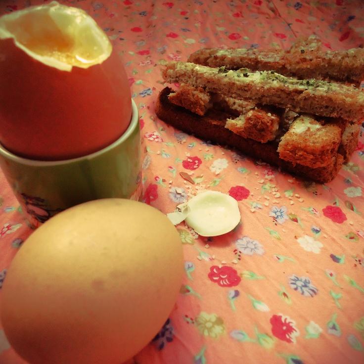 Les œufs à la coque de Maëva