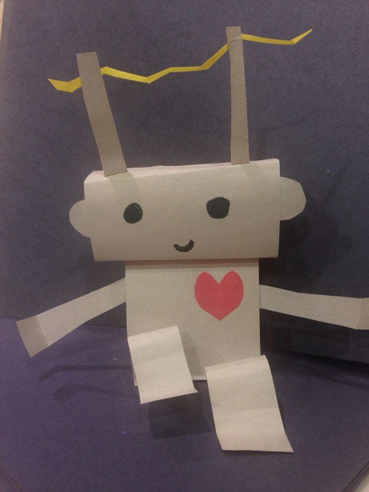 Construction paper 3D robot