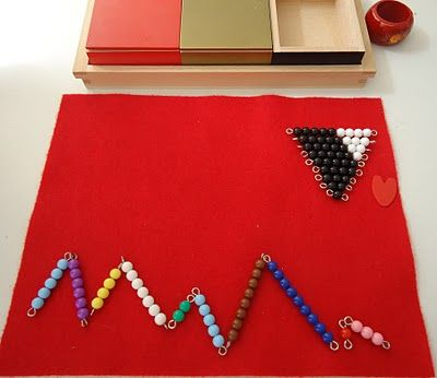 Montessori Math Positive/Addition Snake Game....This is tactual for our blind or deaf blind learner s.