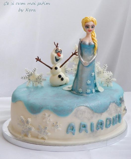 Ce si cum mai gatim: Tort Frozen - Elsa si Olaf