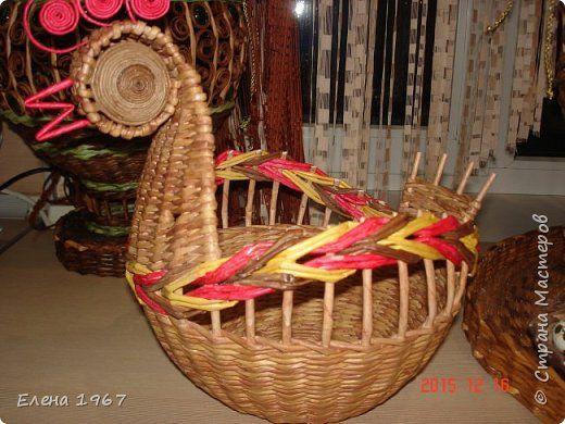 Поделка изделие Плетение Новые плетушки Трубочки бумажные фото 9