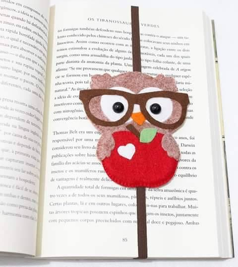 DIY Cute Felt Owl Bookmark Tutorial with FREE Template                                                                                                                                                      More