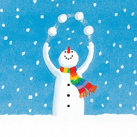 Buy Almanac Juggling Snowman Charity Christmas Cards, Pack of 8 Online at johnlewis.com