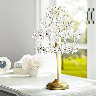 The Emily & Meritt Chandelier Table Lamp #pbteen