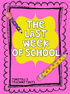 """Tunstall's Teaching Tidbits: Surviving One More Week.  One thing that caught my eye here was her low-cost """"Minute to win it"""" game ideas for the last day of school!  I can't imagine having to keep a roomful of kids entertained on the last day, but thought I'd share for those who will have to. :-)"""