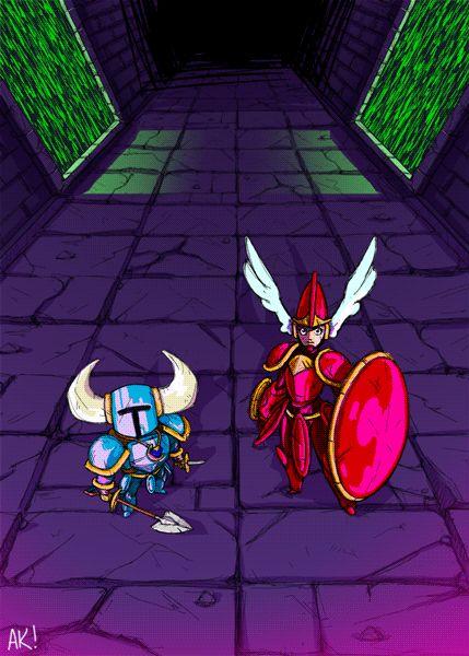 gif nintendo animation fan art digital art Shovel Knight yacht club games shield knight