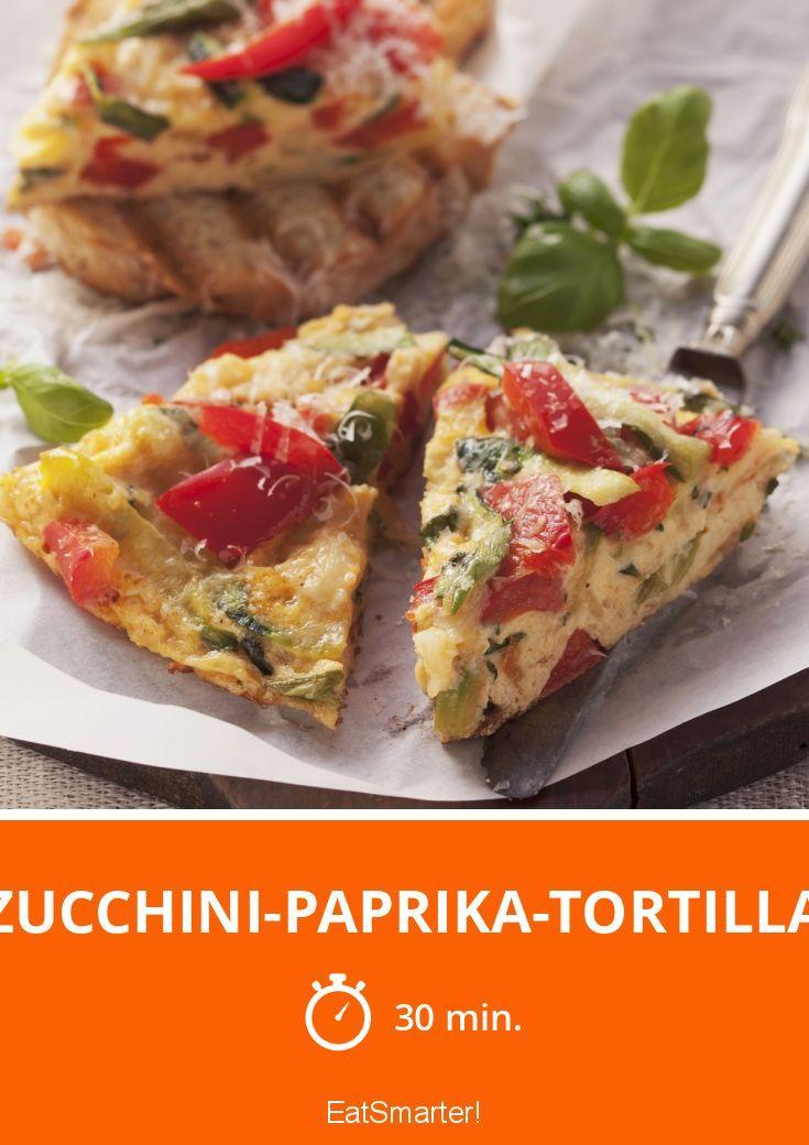 Zucchini-Paprika-Tortilla - smarter - Zeit: 30 Min. | eatsmarter.de