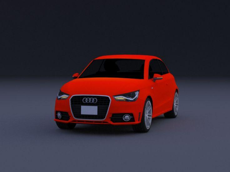 Audi A1 TFSI S line (8X) 2010–2014  https://vector-3dmodels.com/audi_a1