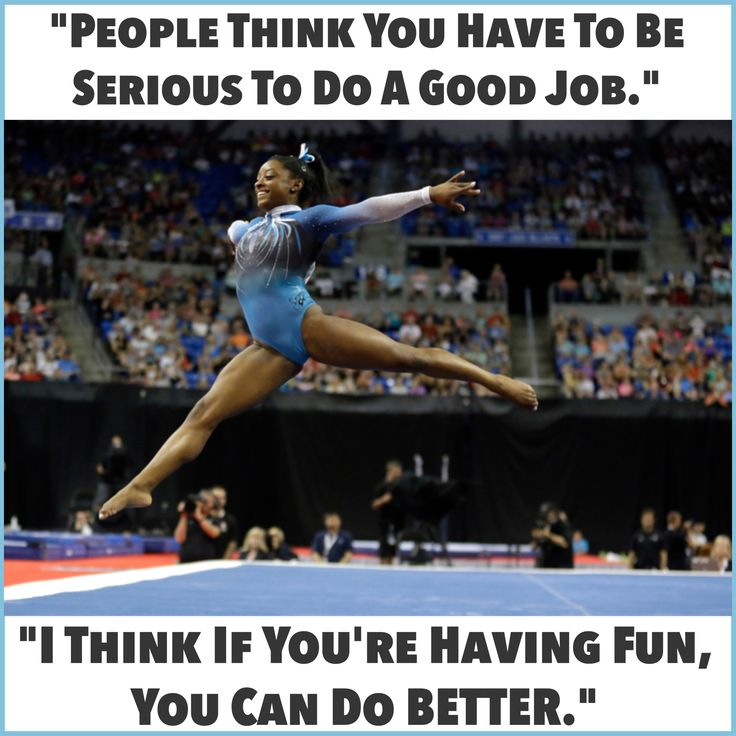 Congratulations to 19 year old Simone Biles for her... 1) joyous attitude, wonderfully shown her quote! 2) fourth straight national title in the all-around gymnastics event (last done 42 years ago) 3) gold medals in 3 of the 4 individual events. You may never be a national champion, but you CAN duplicate the attitude. JOY leads to all sorts of #championships in every walk of life. All any solopreneur has to do, AND CAN DO, is adopt it! #InspireMe #AttitudeIsEverything *** FotoSource @nytimes