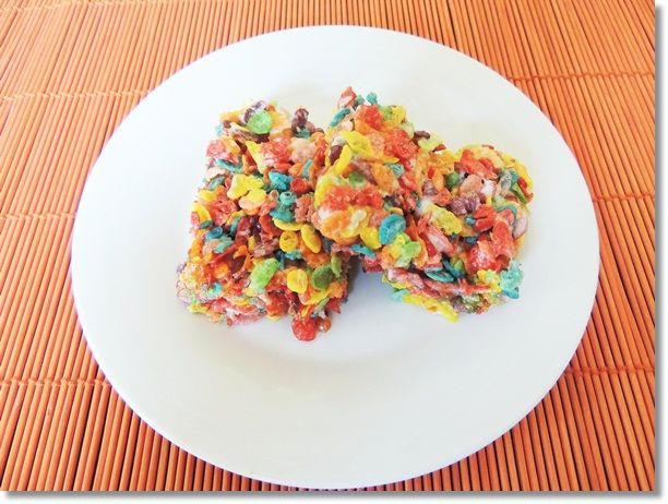 Fruity Pebbles Treats Recipe - 2 Wired 2 Tired