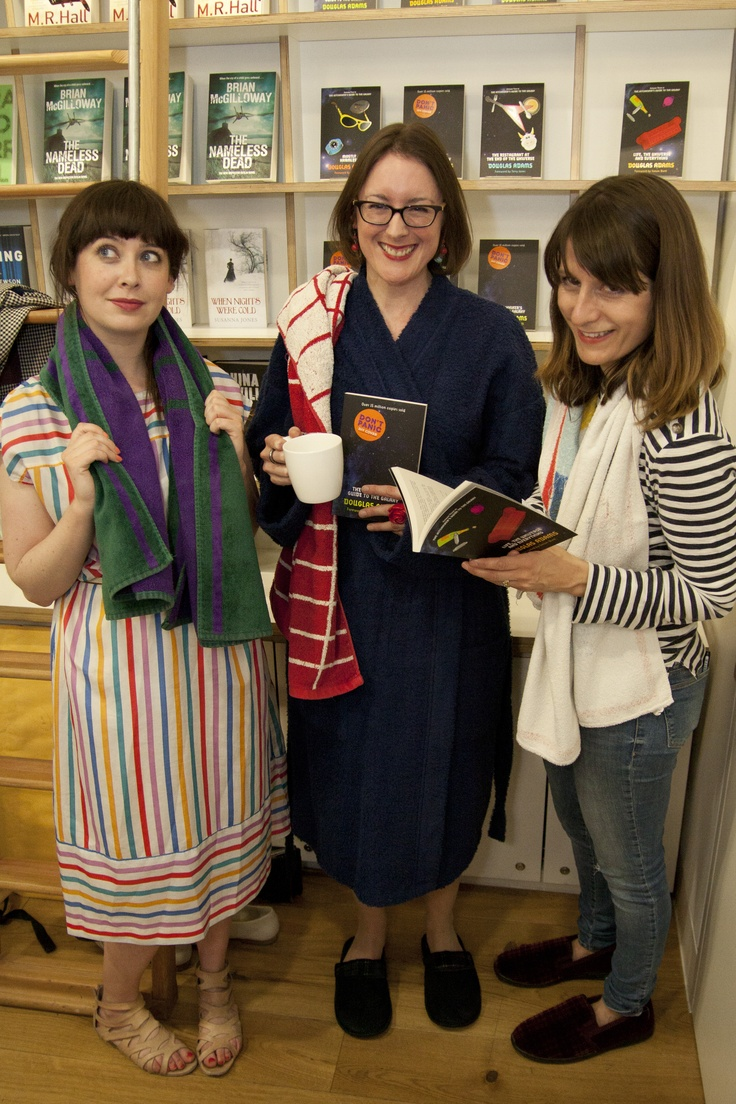 Tor's Isolde Roche, Bella Pagan & The Literary Platform's Sophie Rochester + towels