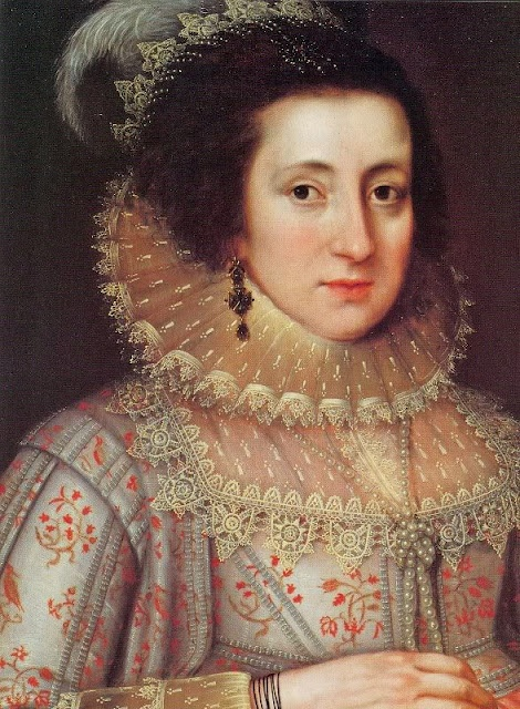 1620 A lady in Red by Marcus Gheeraerts the Younger (Flemish English painter, 1562–1635) Detail
