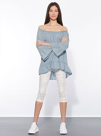 Celestino - Μπλούζα από Tencel με ακάλυπτους ώμους