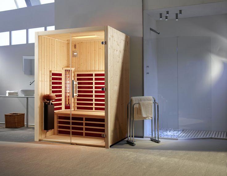 triosol glas 145 fichte infrarotkabine die kombination fichte und glasfront verleiht dieser kabine eine puristische optik httpwwwinfrarotwae - Infrarotkabine Kombiniert Mit Dusche