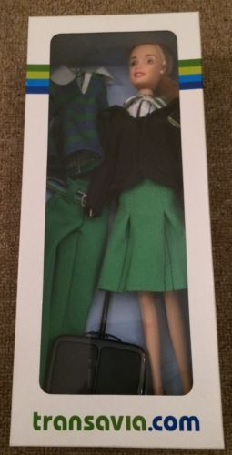 TRANSAVIA cabin crew doll sindy barbie air hostess flight attendant transavia.co 12.49+5