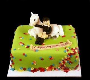 Торт девушка с лошадкой