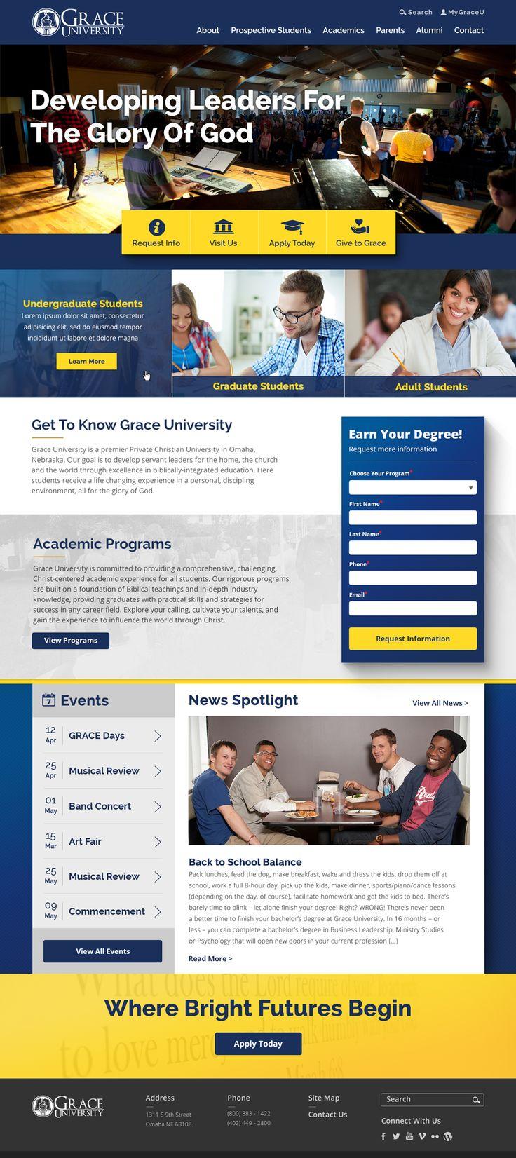 Grace University Website #Rocket55 #WebDesign