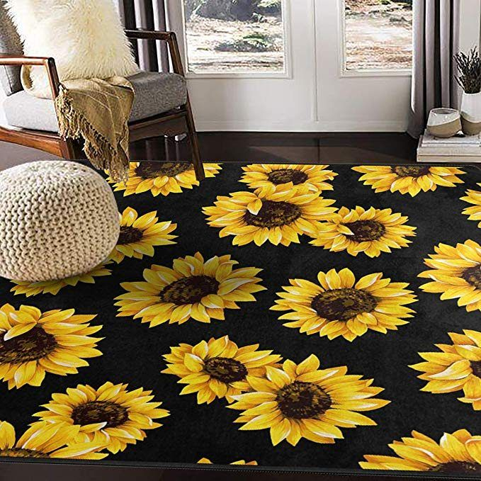 Sunflower Cla150823r Rug Azcozy Sunflower Kitchen Decor Sunflower Home Decor Rugs In Living Room #sunflower #living #room #decor #ideas