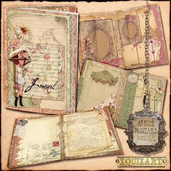 Paper Pack digital Documents Vintage Journal printable Journaling Invoices Set Craft Junk Journals Download digital collage sheet PP102