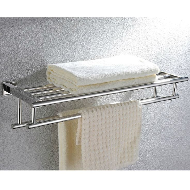 chrome hotel towel rack shelf with hooks bathroom hardware satin nickel oil rubbed bronze paris