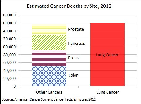 Lung Cancer - Leading Causes of Cancer Death (povided by American Cancer Society). Leading cause of lung cancer in non-smokers is preventable - Have your home professionally tested for RADON - call 770-338-0051 or visit www.radonadvisor.com