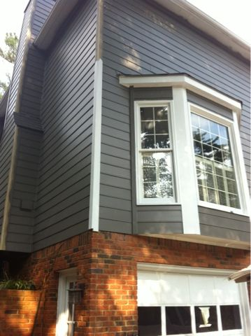 Sherwin Williams Gauntlet Gray Noting The Bay Window