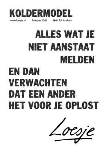 loesje.nl - Maandseries   Loesje