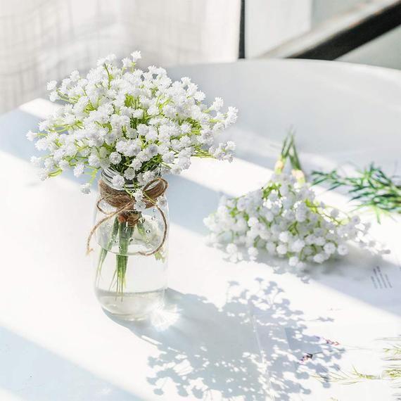 Baby Breath Spraysflowers Spraysfloral Bouquetplastic Etsy Wedding Centerpieces Wedding Table Centerpieces Wedding Flower Arrangements