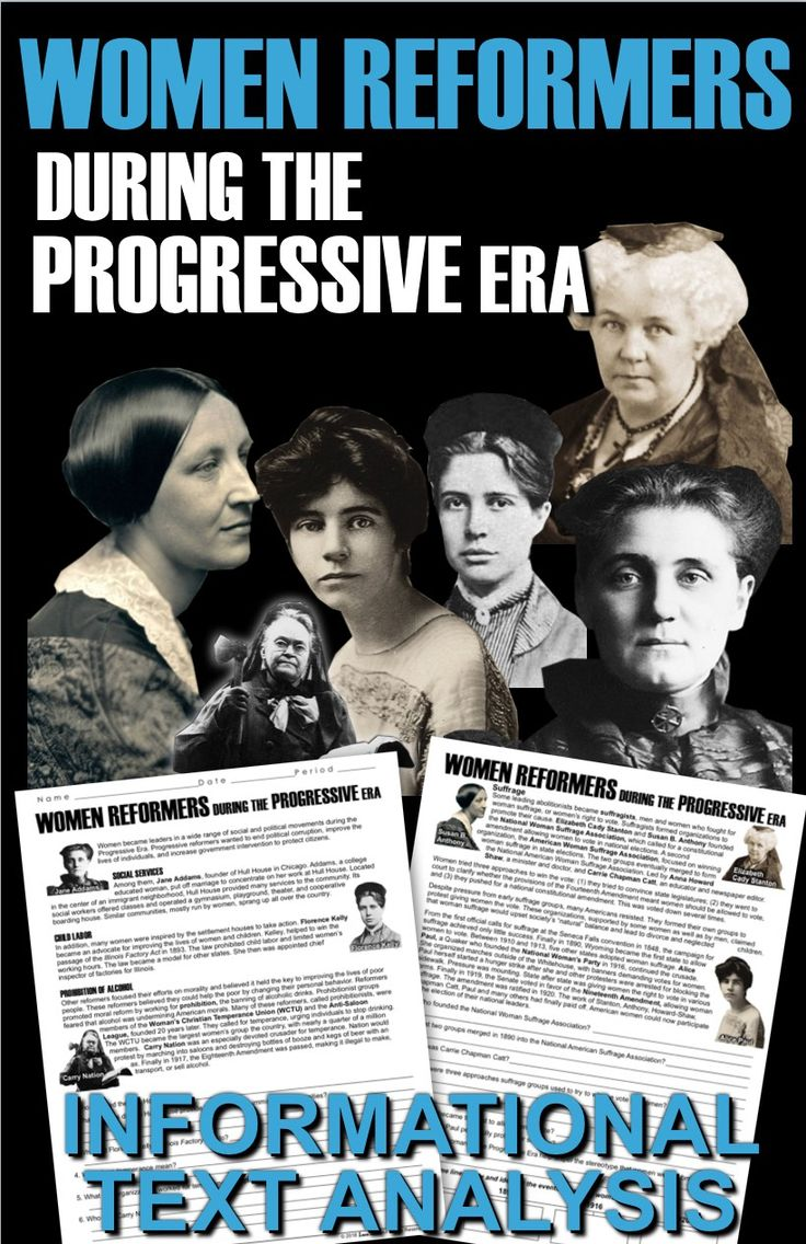 women during the progressive era essay During his first year in springfield,  the end of the first world war is often seen as the end of the progressive era,  to cite this essay.
