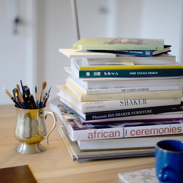 I have piles of books all over the studio. I'm typically reading a few at a time - usually as reference material, or for research as it pertains to a project. #ThomFougereTakeover #AssemblyTakeover #EQ3Assembly