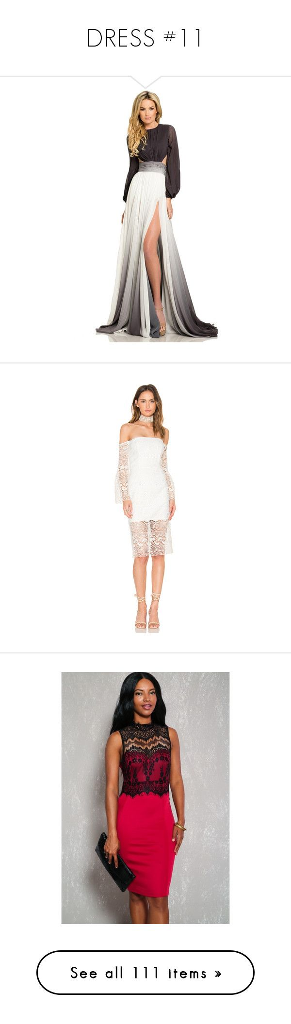"""""""DRESS #11"""" by missk2blue ❤ liked on Polyvore featuring dresses, gowns, formal dresses, white evening gowns, evening dresses, white evening dresses, long evening dresses, white formal gown, lacy dress and zip back dress"""
