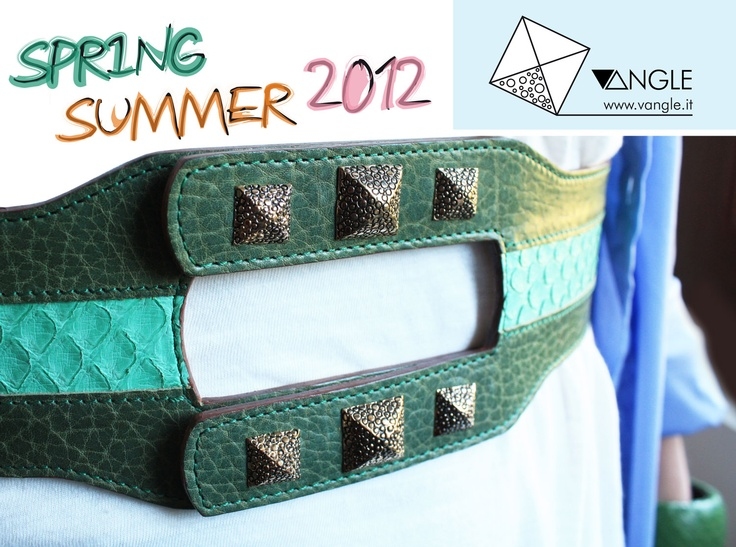 Vangle's Belt |  Genuine Python Leather and Sterling Silver