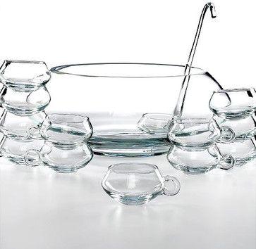 Moderno 14 Piece Punch Bowl Set contemporary-serving-bowls