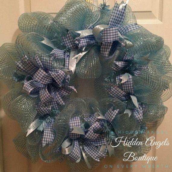 Baby Boy Hospital Door Wreath, Baby Boy Nursery Wreath, It's a Boy Wreath, Wreath for Hospital Door, Baby Boy Wreath, Baby Boy Shower Wreath