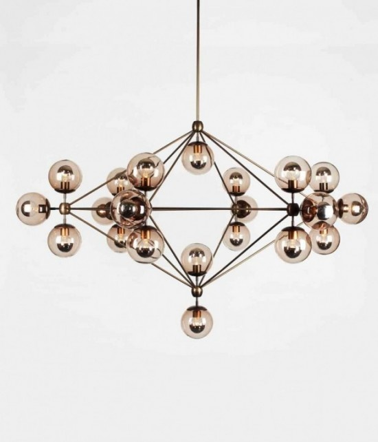 Rh modo 6sided bronze smoke home furnishings pinterest for Replica leuchten