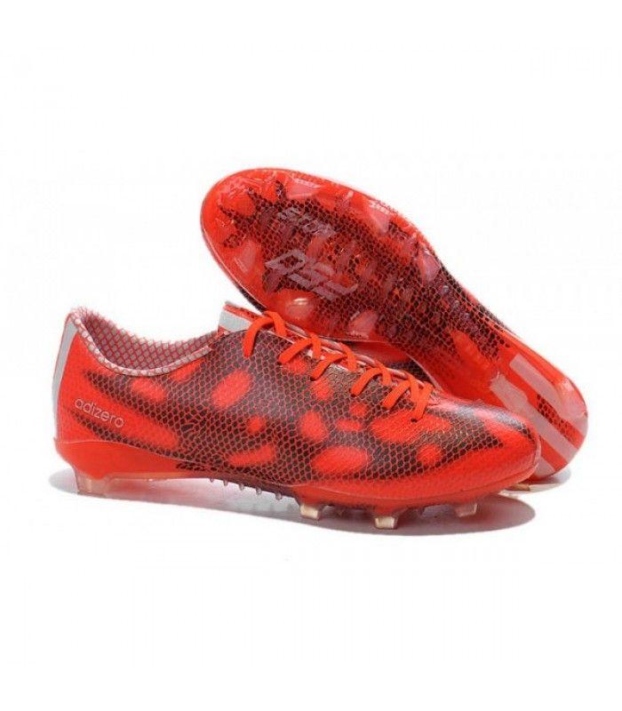 Acheter 2015 Adidas Chaussures de foot F50 Adizero Messi TRX FG Rouge Noir pas cher en ligne 87,00€ sur http://cramponsdefootdiscount.com