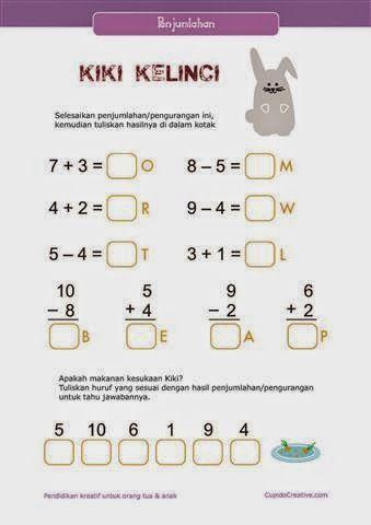 belajar anak kelas 1 SD, penjumlahan angka 1 sampai 10