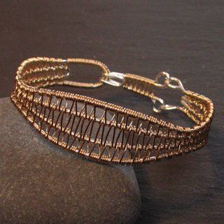 JanRa Jewelry -- Silver and Gold Wire Viking knitting, Weaving